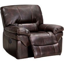Valdez Brown Glider Recliner