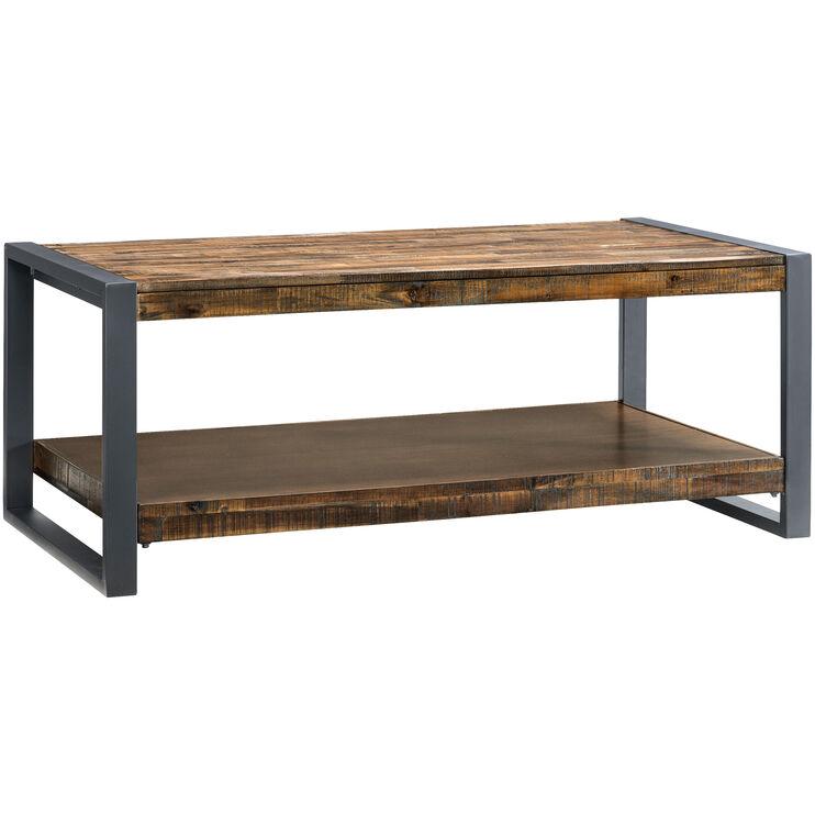 Loftworks Distressed Brown One Shelf Coffee Table
