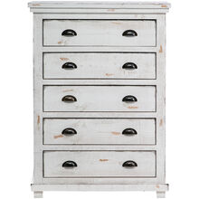 Willow Distressed White Chest