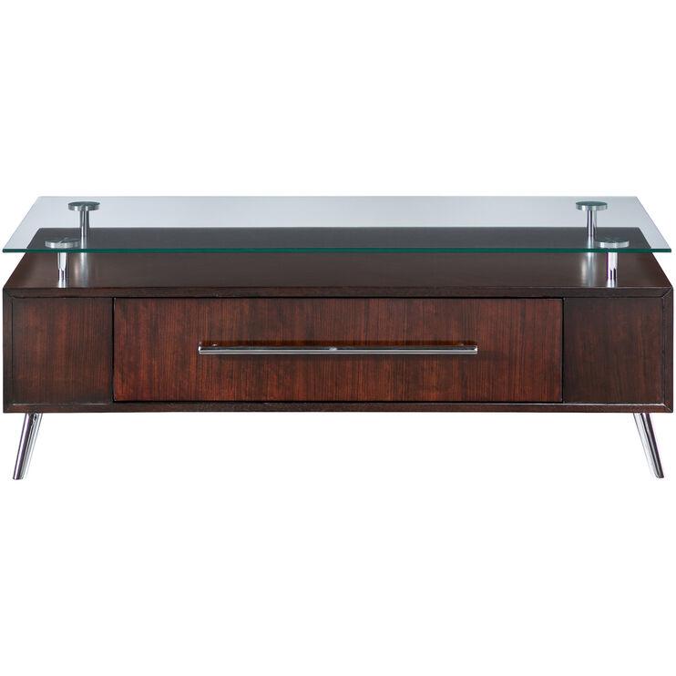 Slumberland Furniture Studio City Warm Cherry Coffee Table - Rectangular cherry coffee table