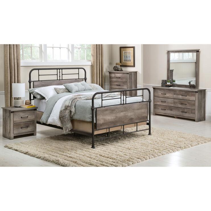 Gambrel Full Metal Bed