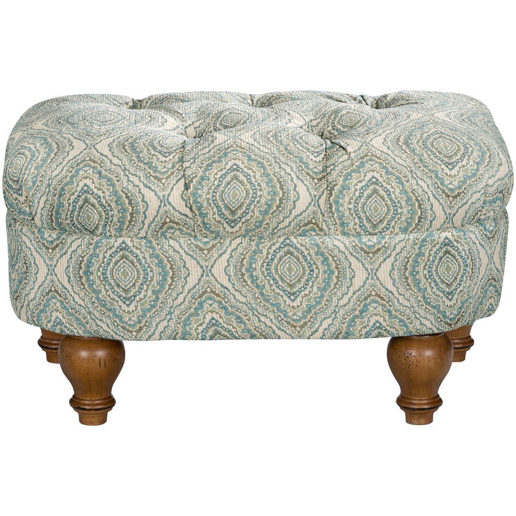 Tranquility Blue Ottoman