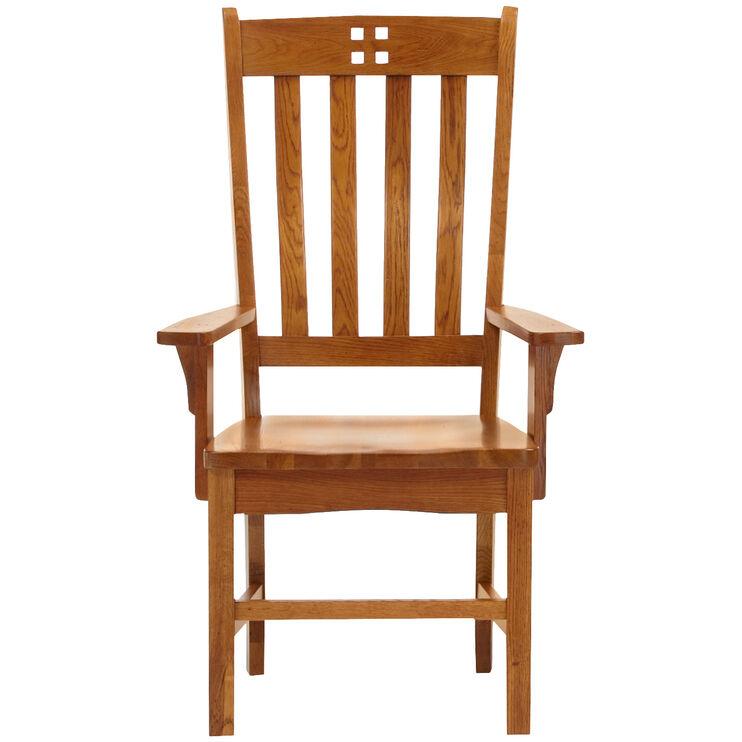 Keepsakes Rustic Oak Arm Chair