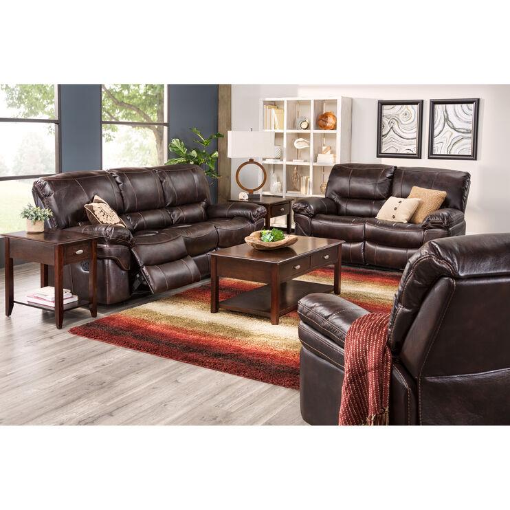 Valdez Brown Reclining Sofa