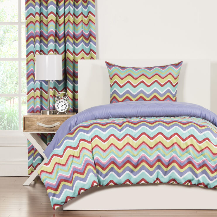 Crayola Mixed Palette 3 Piece Full/Queen Comforter Set