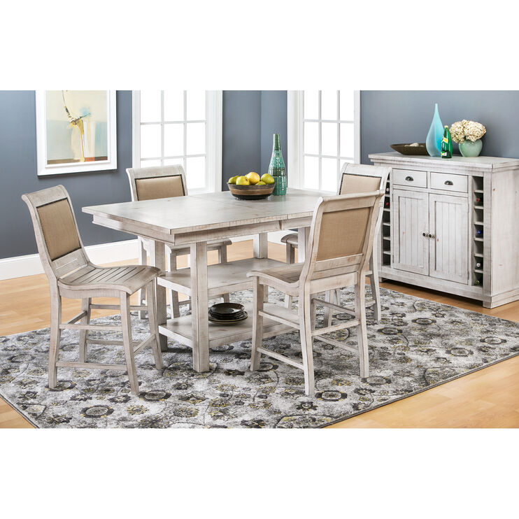 Willow White 5 Piece Rectangular Counter Set