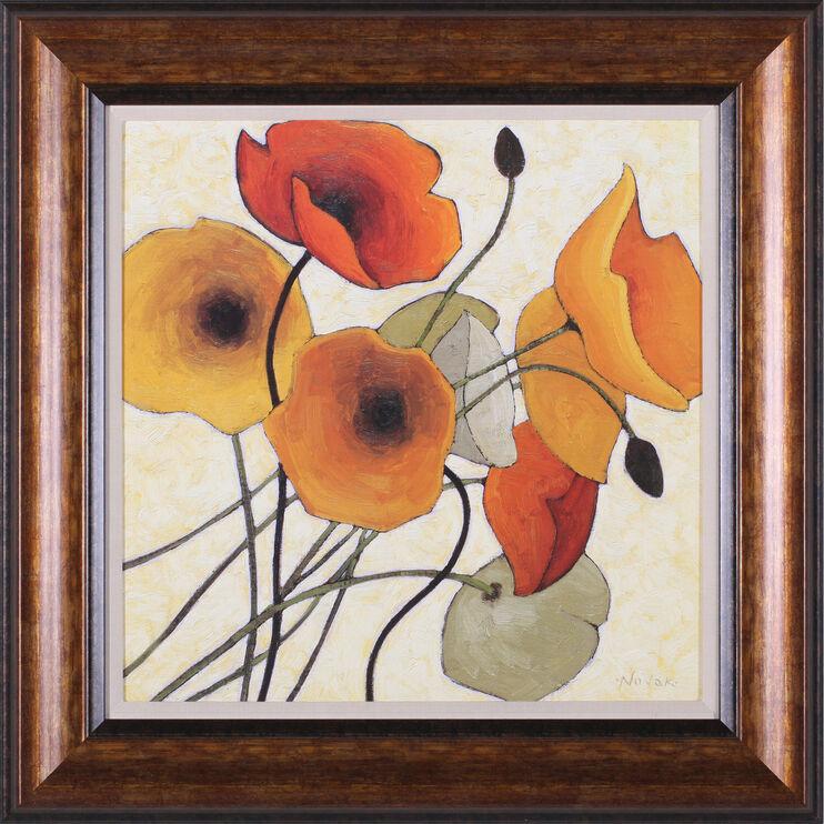 Pumpkin Poppies II Framed Art