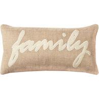 Sentiment Family Oblong Down Pillow