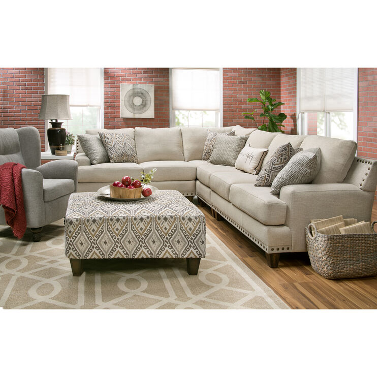 Trenton 4 Piece Linen Sectional