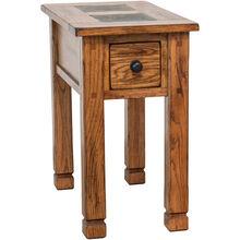 Sedona Rustic Oak Chairside Table