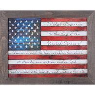 Reclaimed Artwork Pledge Of Allegiance