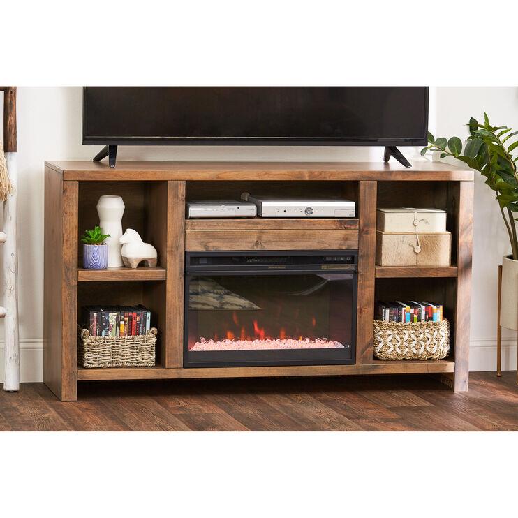 Joshua Creek Barnwood Fireplace Console
