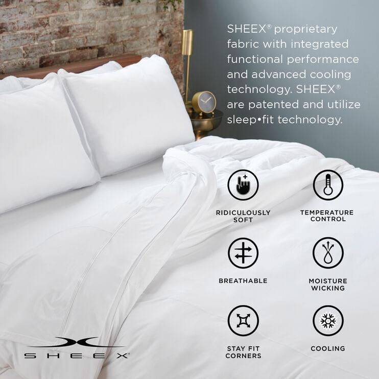 SHEEX Aero Fit Graphite Queen Sheet Set