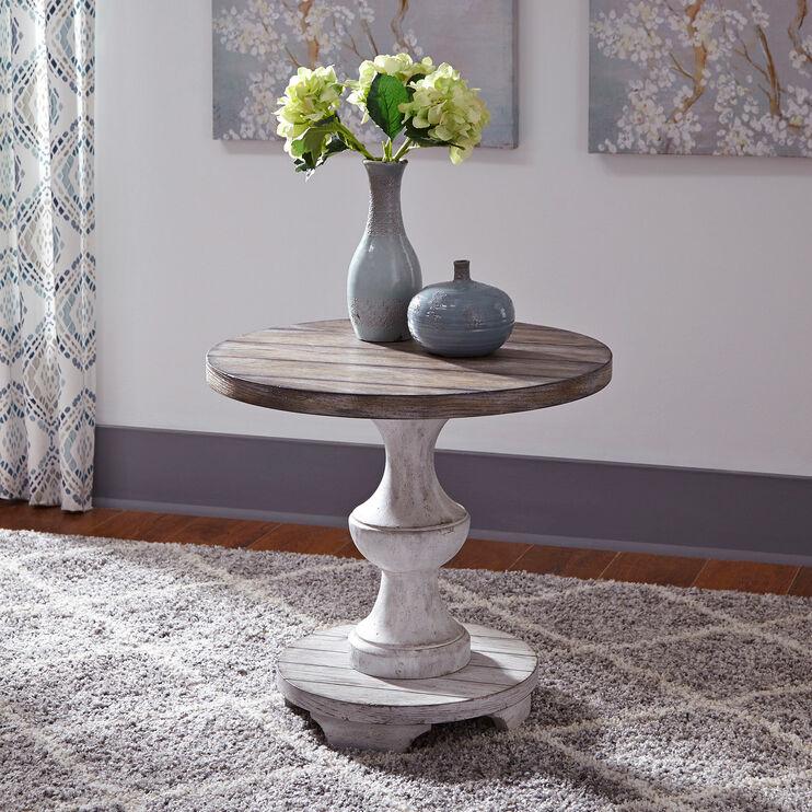 Sedona White End Table