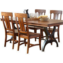 District Copper 5 Piece Counter Dining Set