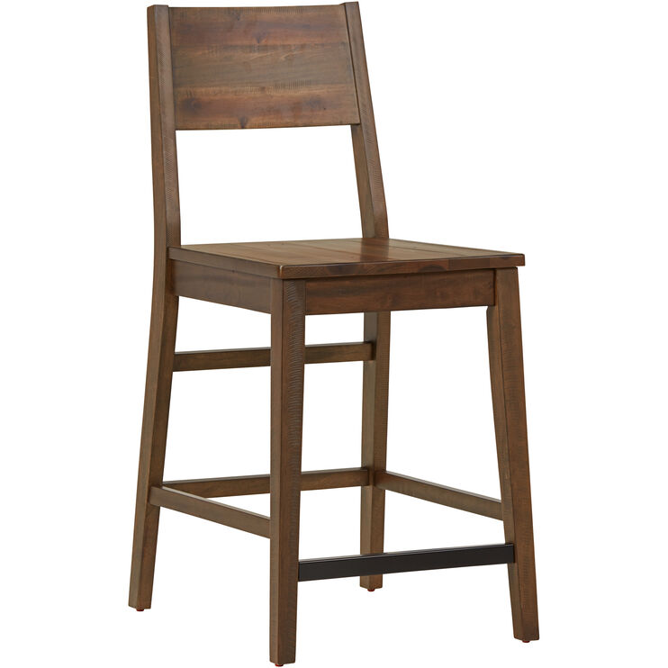 Rye Brown Counter Height Stool