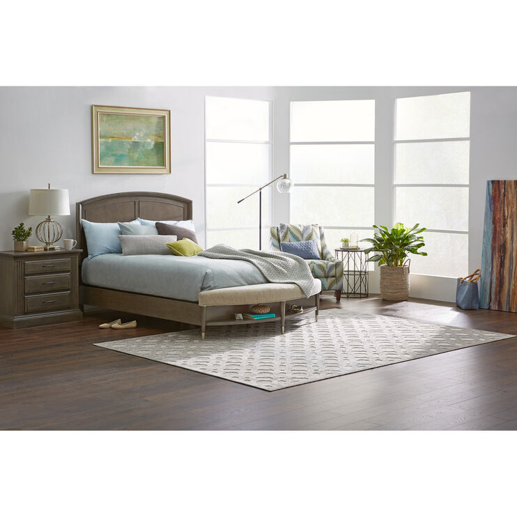 Broyhill Vibe Gray Queen Bench Bed