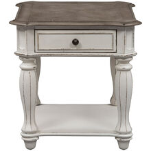 Magnolia Manor White End Table