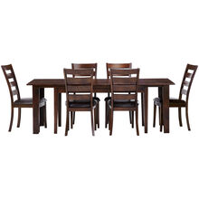 Kona Raisin 7 Piece Ladder Back Dining Set