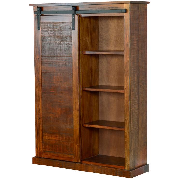 Sante Fe Red Barndoor Bookcase