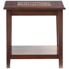 Mosaic Baroque Brown End Table