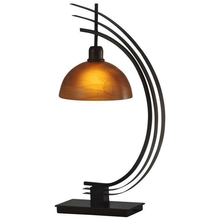 Worldly Bronze Metal Accent Lamp