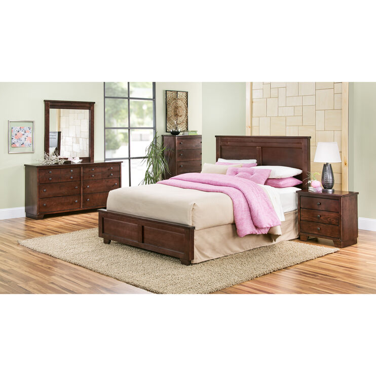 Diego 4 Piece Midnight Queen Package with Metal Rails