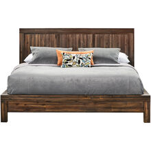 Prairie Brown Queen Platform Bed