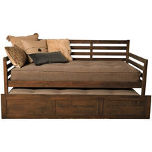 Boho Brown Daybed with Trundle