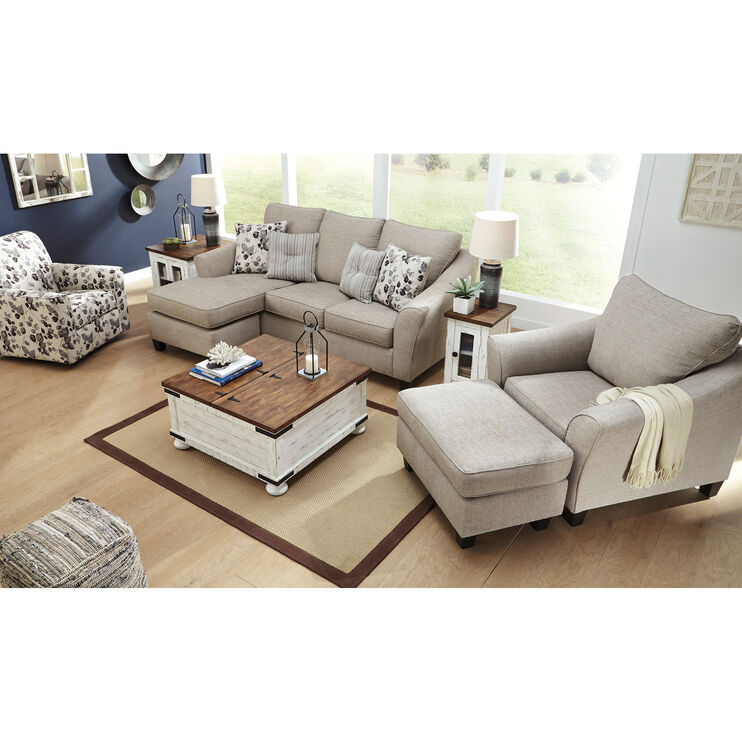 Astounding Cyprus Driftwood Sofa Chaise Slumberland Furniture Camellatalisay Diy Chair Ideas Camellatalisaycom