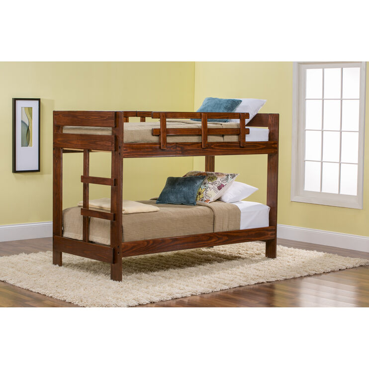 Tanglewood Chocolate Twin over Twin Bunk Bed