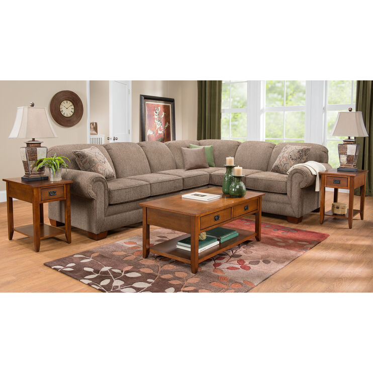 Tenor 2 Pc Brown Large Sectional