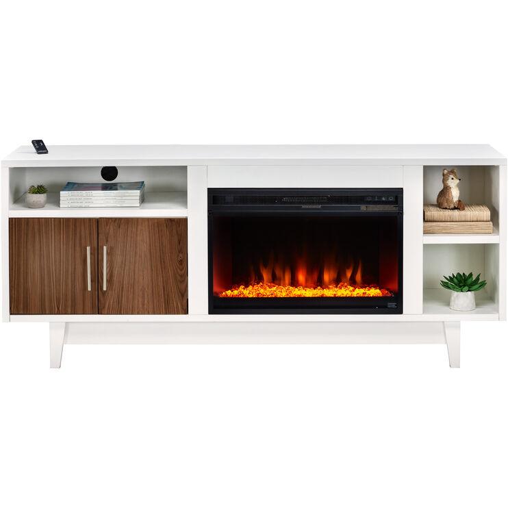 "Draper White 68"" Fireplace"