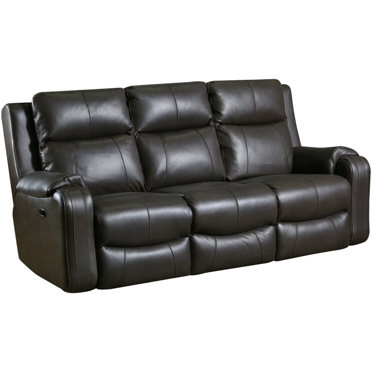 Contour Leather Fossil Reclining Sofa