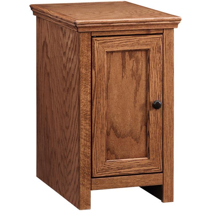 Chambers Golden Oak Storage Chairside Table