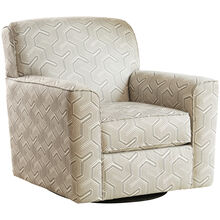 Genova Gray Swivel Accent Chair