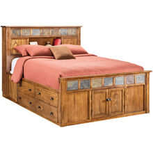 Sante Fe Rstc Oak Kg Bookcase Capt Bed