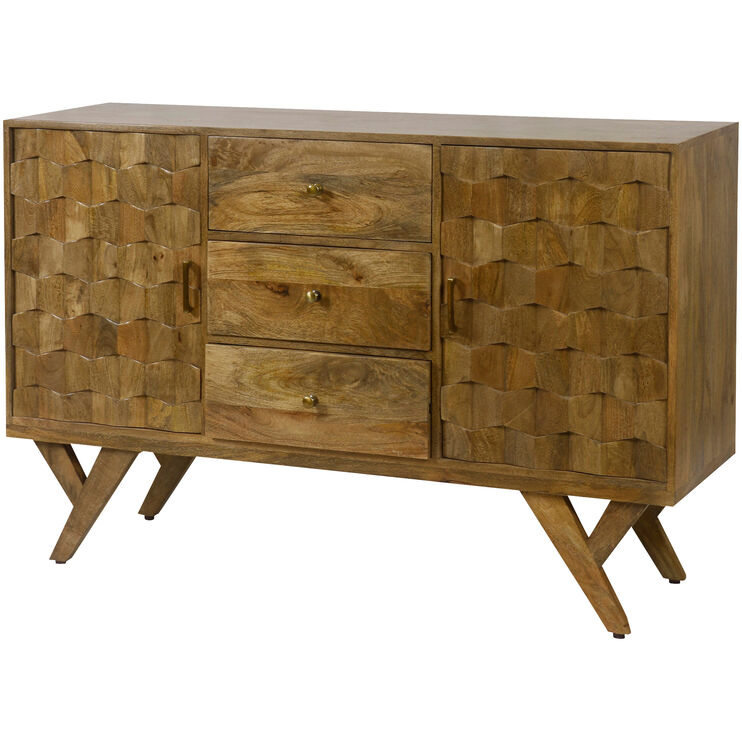 Dixter Honey Stain 3 Drawer Sideboard