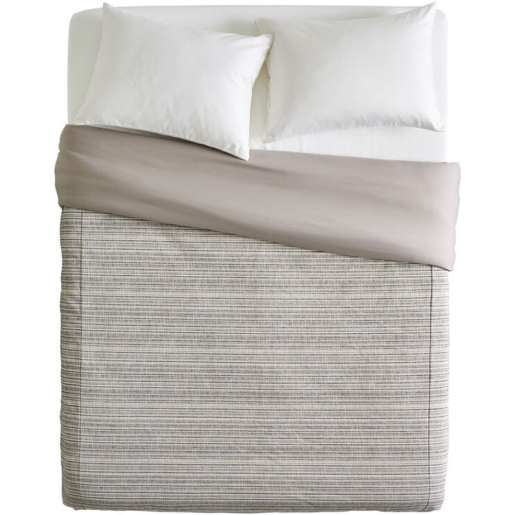 Bungalow Stripe Slate Queen Duvet Cover