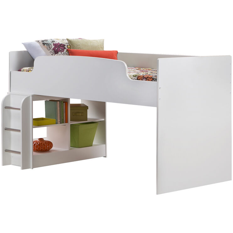 Lulu White Loft Bed, Upper Bed Only