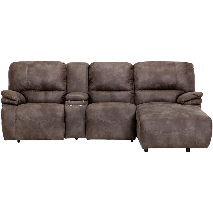 Admirable Frisco Pewter Right Chaise Power Sofa Slumberland Furniture Squirreltailoven Fun Painted Chair Ideas Images Squirreltailovenorg