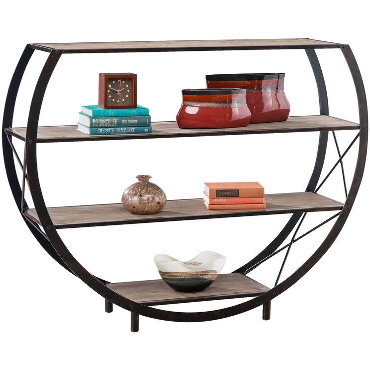 Gerrit Bronze Circular Accent Shelf