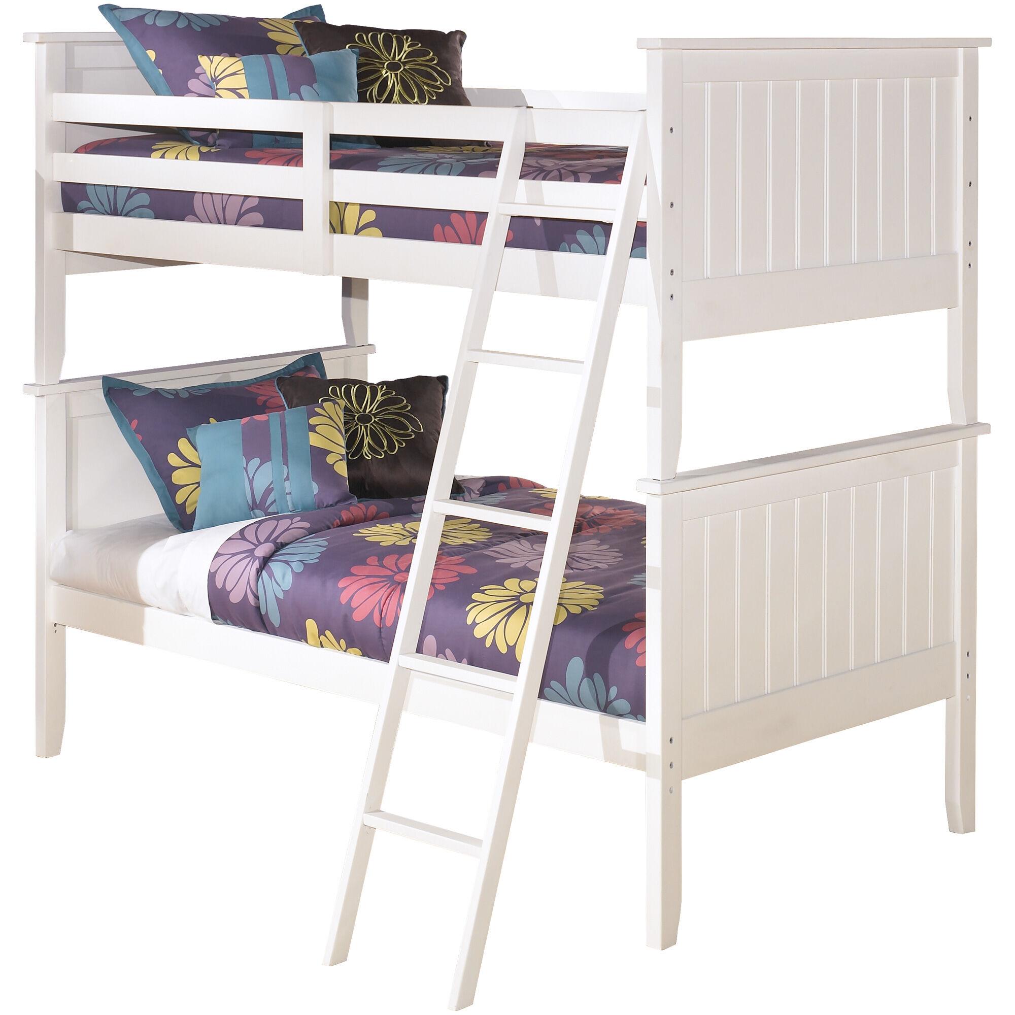 ... Lulu White Twin Twin Bunk Bed ...