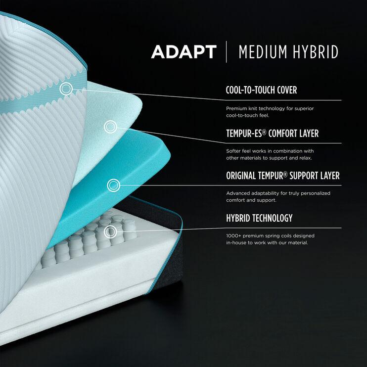 Tempur-Pedic Adapt Medium Hybrid California King Mattress
