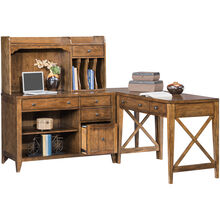 Hearthstone Oak 4 Piece Corner Desk