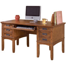Cross Island Brown Desk w/Storage