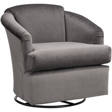 Cass Gray Swivel Glider