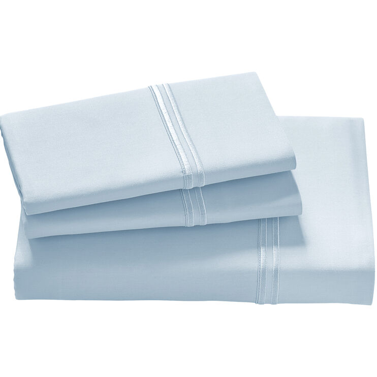 Elements Light Blue Queen Tencel Sheet Set