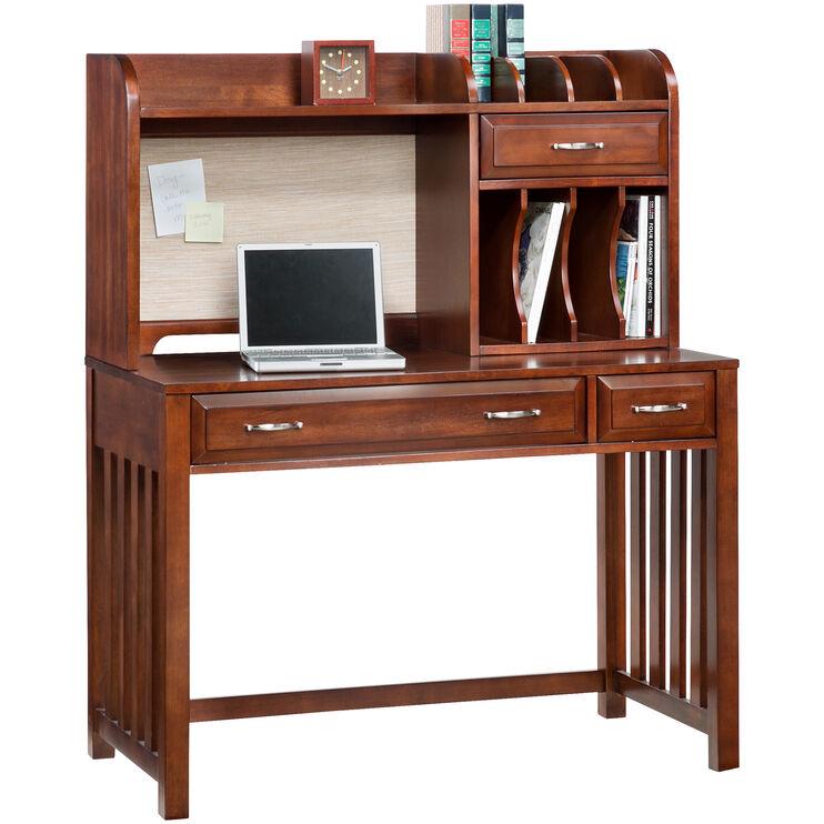 Hampton Bay Cherry Desk with Hutch