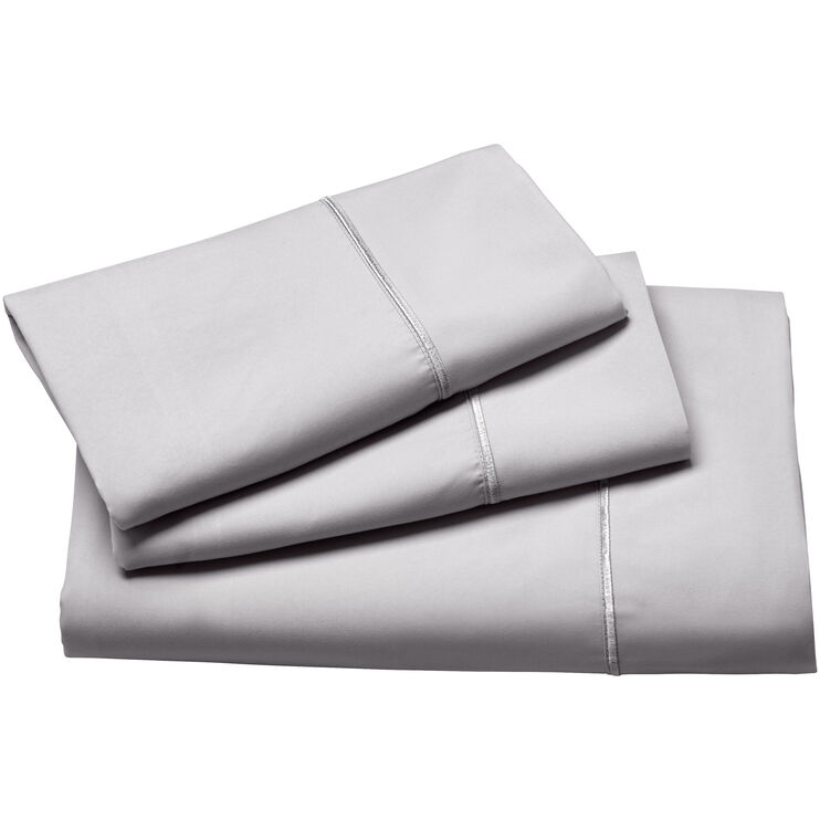 Fabrictech Dove Gray Queen Luxury Microfiber Sheet Set